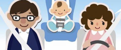 viajar en asiento trasero